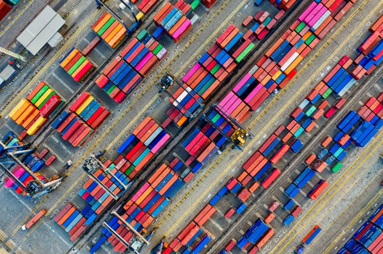 aerial-photography-of-container-van-lot-3063470